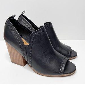 LUCCA LANE Anna Open Toe Booties Block Heel Size 7